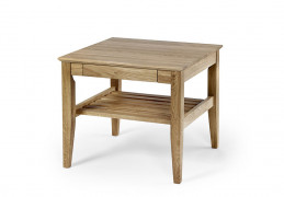 Ekliden sofa table with shelf 60x60