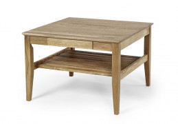 Ekliden sofa table with shelf 76x76